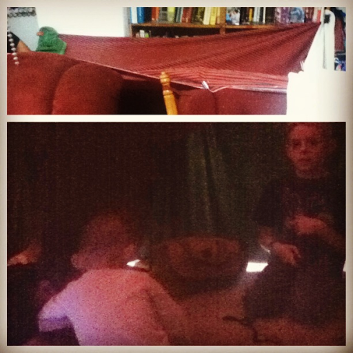 Three boys in a fort
