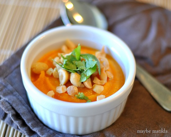 Thai Butternut Squash Soup - healthy and delicious!