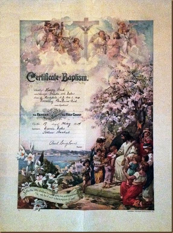 FINK_Dorothy B_baptismal certificate_May 1914_enhanced