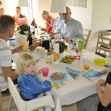 Gæsterne kom til brunch om formiddagen