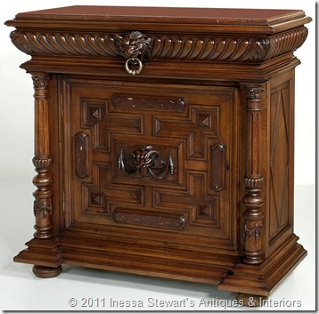 Antique Louis XIV One Door Buffet