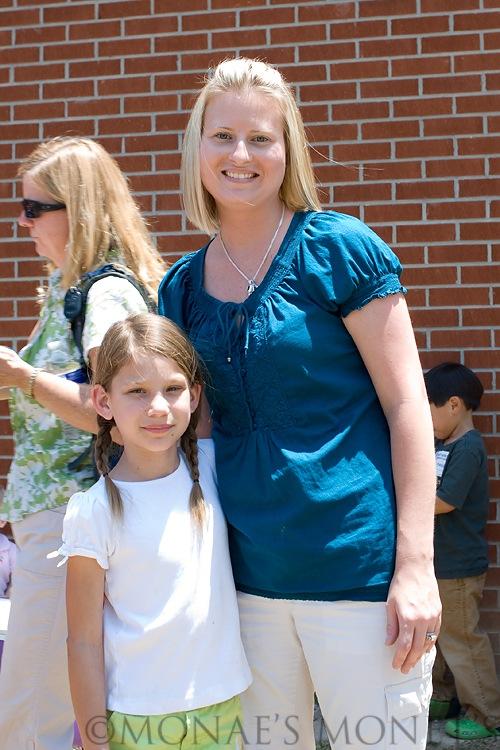 Brooke with teacher 2nd grade blog
