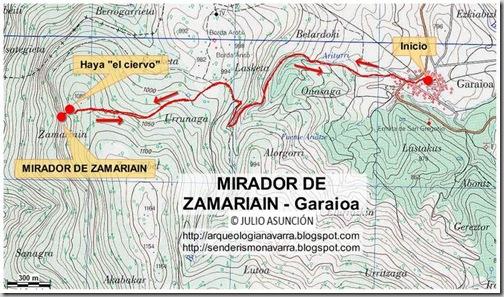 Mapa ruta Mirador Zamariain