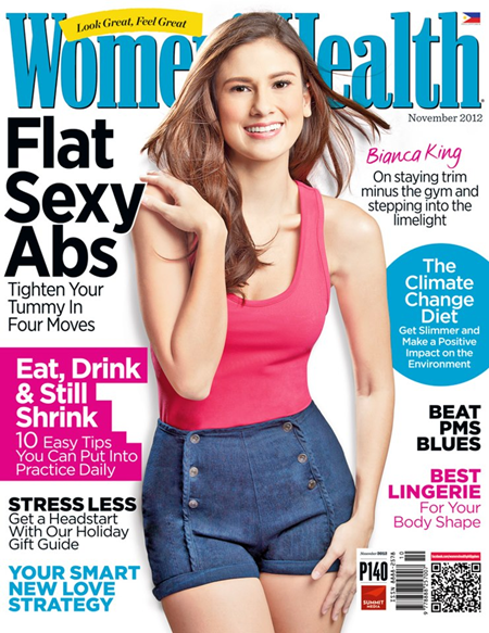Bianca King covers Women's Health Ph Nov 2012