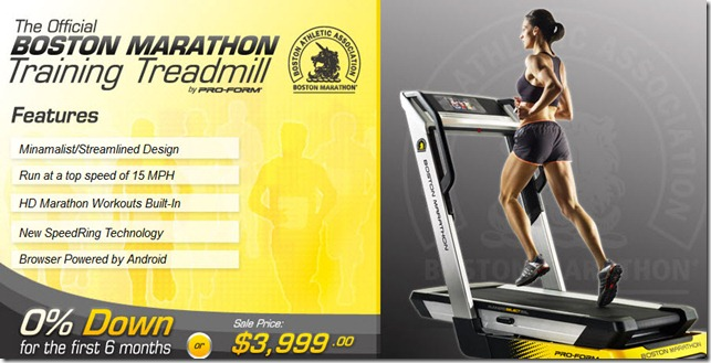 Boston Marathon Treadmill