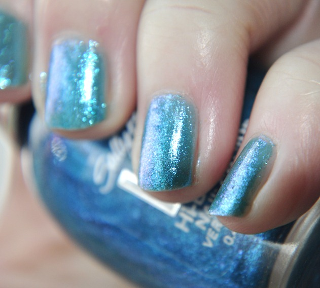 sally hansen spectrum HD nail polish blue glitter
