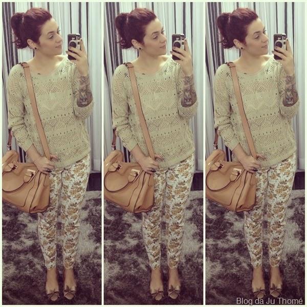 look calça jeans floral e tricot nude (2)