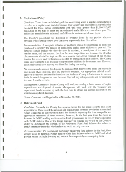 Management Letter 2011 CPA Audit  --9