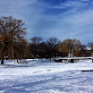 Boston Public Garden in the winter