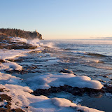 Winter Shoreline on Ellingson Island / Split Rock Lighthouse State Park / Minnesota
