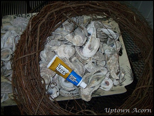 how to make an oyster shell wreath