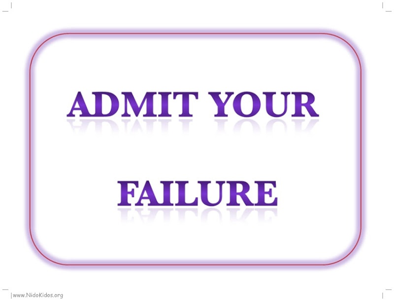 Admit Your Failure