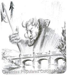 """Ilustración tomada de """"Leyendas Populares Colombianas"""""""