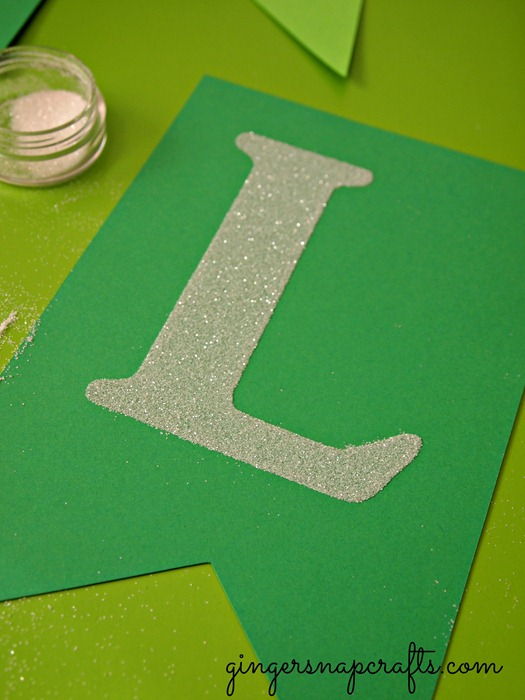 #silhouette glitter letters