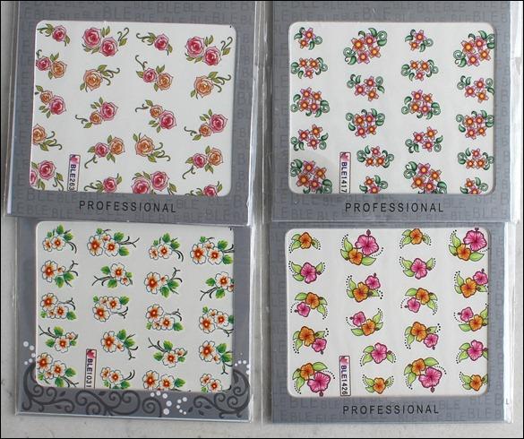 0 Water Decals Blumen Comic Style