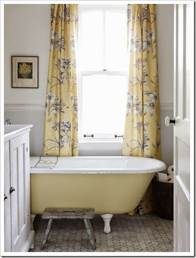 curtains in bathroom
