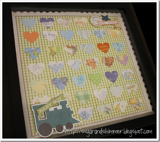 Baby Card Shadowbox