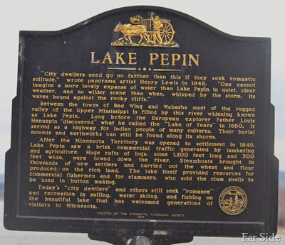 Marker at Lake Pepin