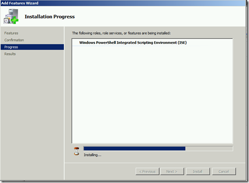 Instal ISE Process