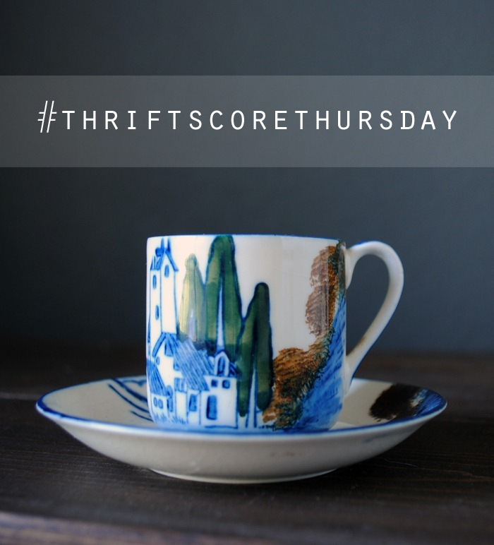thrift score thursday made in japan demitasse set6