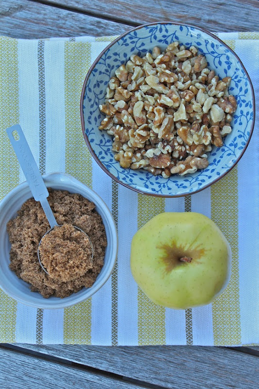Walnuts, brown sugar & apple