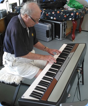 George Watt gave the Club's Korg SP-250 digital piano a whirl