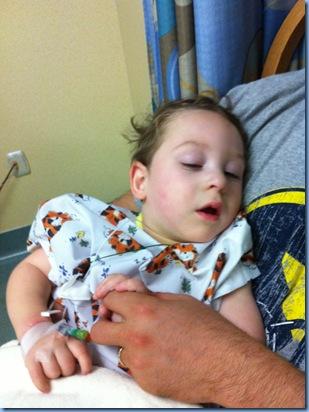 Logan after surgery
