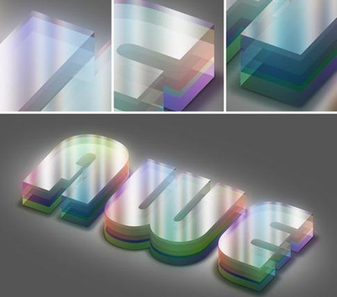 Crear texto 3D con colores iluminados