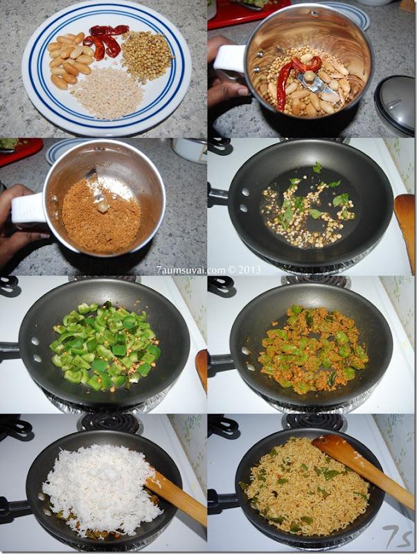 Capsicum rice process