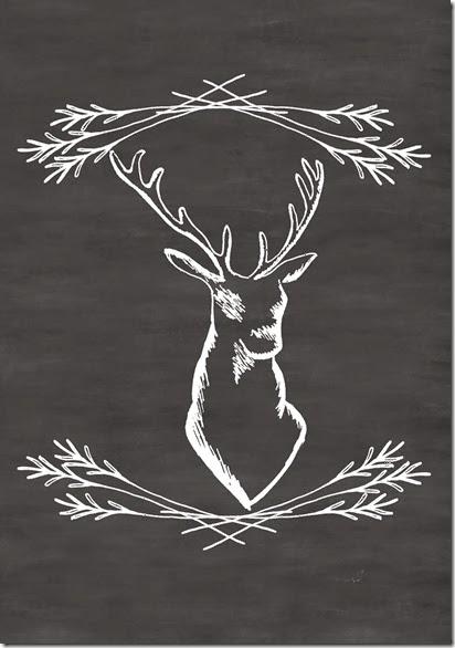 Deer Chalkboard
