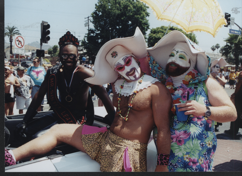 The Sisters of Perpetual Indulgence at the Los Angeles Christopher Street West pride parade. June 17, 2001.