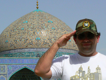 Imam Square Isfahan - military pilot of the Iran Air Force