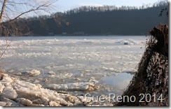 Susquehann River ice jam, by Sue Reno, Image 9
