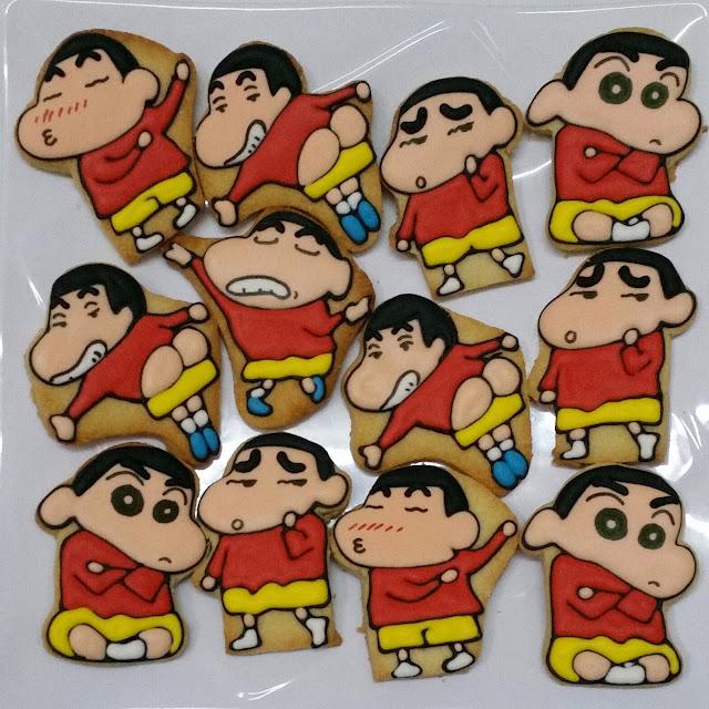 crayon sinchan fancy cookies