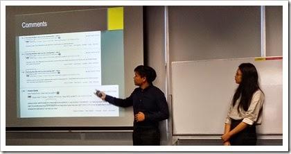 Jun Rong presenting
