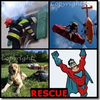 RESCUE- 4 Pics 1 Word Answers 3 Letters