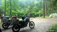 Camp im Smokey Mountains National Park