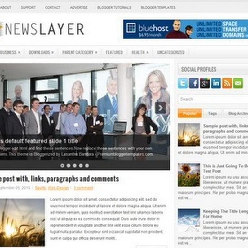 【NewsLayer】Blogger Template 樣版推薦