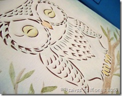 Cut canvas owl