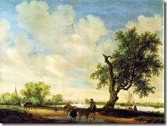 798px-Salomon_van_Ruysdael_Landscape_(detail)_1646