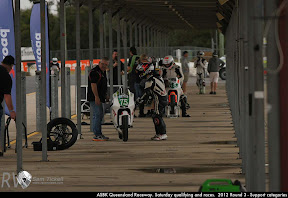 ASBK Queensland Raceway. Saturday qualifying and races.  2012 Round 3 - Support categories