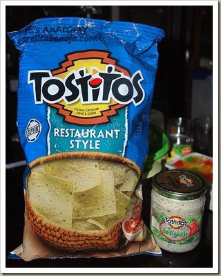 tostitos, dip, chips