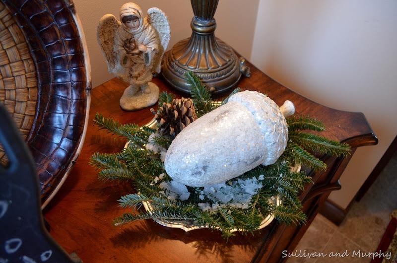 acorn and snow