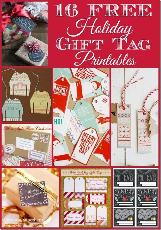 16 Holiday Gift Tag printables