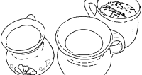 Dibujos de comida mexicana para colorear - pintaryjugar.com