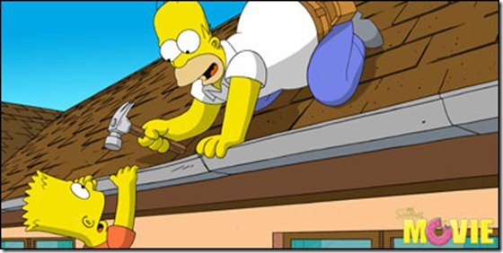 Homer Simpson and Bart