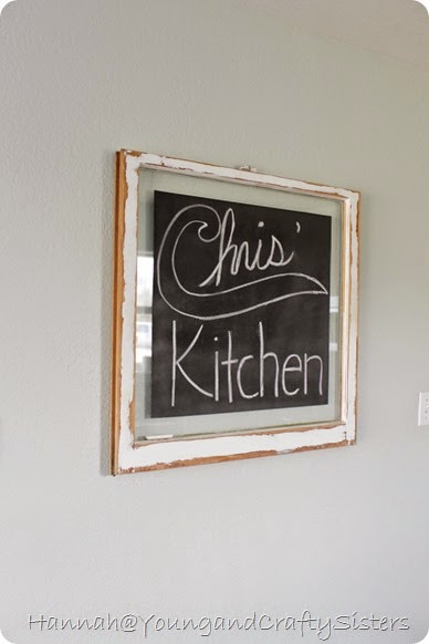Window Pane Chalkboard 8