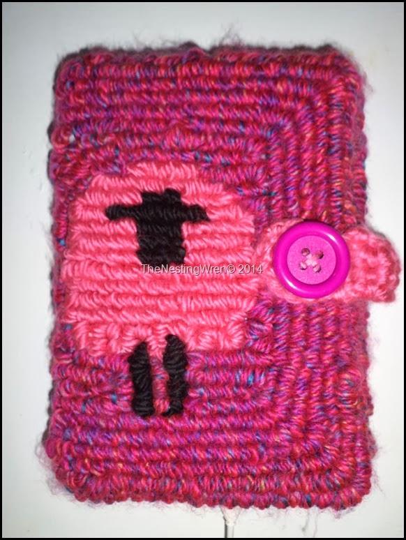 locker hooking, kindle cover, locker hooking pattern, sheep pattern