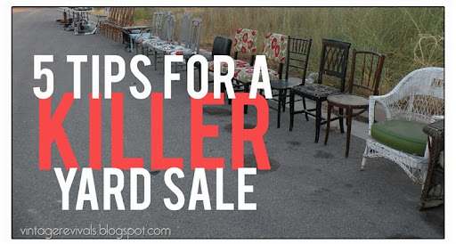 5 Tips For A Killer Yard Sale - Vintage Revivals
