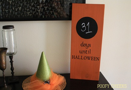 Halloween Chalkboard Countdown Board